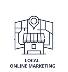 Local online marketing line icon concept local vector
