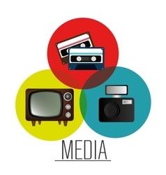 Mass media news graphic vector