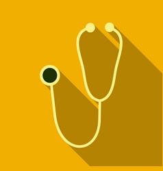 Medical stethoscope or phonendoscope isolated on vector