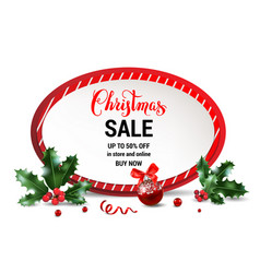 merry christmas sale frame vector image