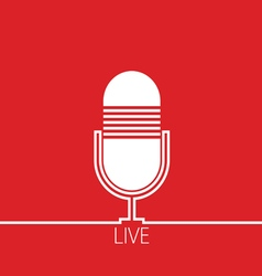 Microphone red vector