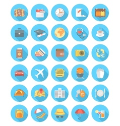 Modern Flat Traveling Icons vector