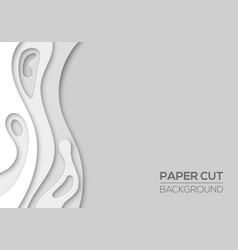 Modern paper cut art cartoon abstract background vector
