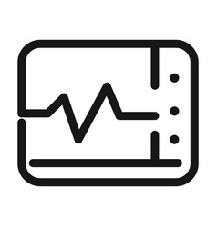 Monitoring heart rate medical and health care line vector
