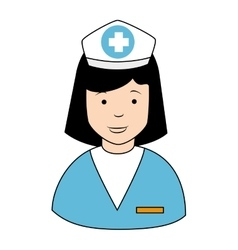 Nurse profile cap icon vector