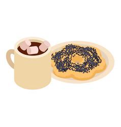 Original breakfast icon isometric style vector
