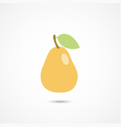 pear icon on white vector image