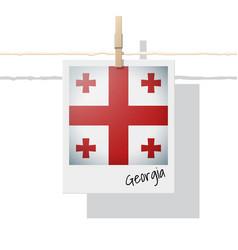 Photo of georgia flag vector