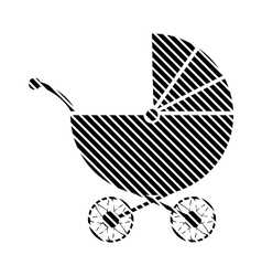 Pram sign on white vector image