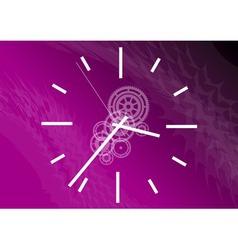 purple clock vector image