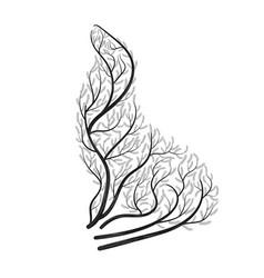 Sea lion bush stylization vector