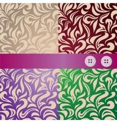 Seamless leaves pattern set vector