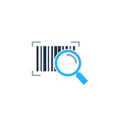 Search barcode logo icon design vector