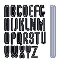 Set of capital tall funky alphabet letters vector