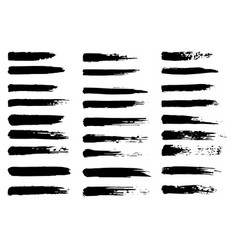 Set of grunge brush strokes oil brushes vector