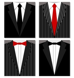 Set of suits vector image