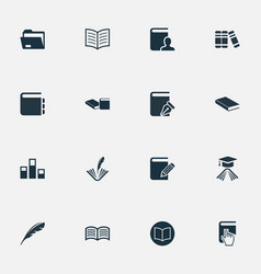 Set simple books icons vector