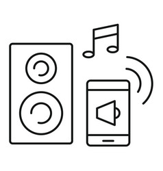 smart sound control icon outline style vector image