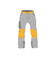 Snowboarding pants flat icon isolated vector