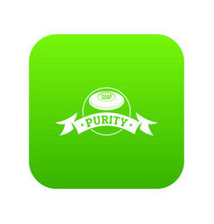 Soap purity icon green vector