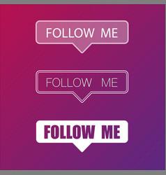 Social media follow me frame background vector