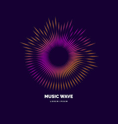 Sound wave modern on dark vector