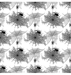 spider web silhouette spooky spiders vector image