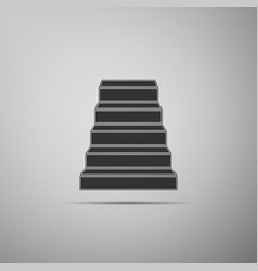 staircase icon isolated on grey background vector image