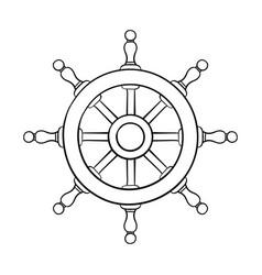 Steering wheel outline drawing vector