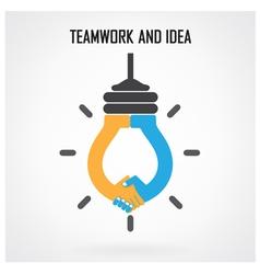 Teamwork and ideas vector