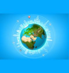 travel ariund world concept vector image