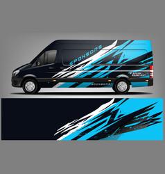 Van wrap design wrap sticker and decal design vector