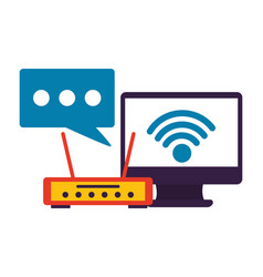 wifi internet connection vector image