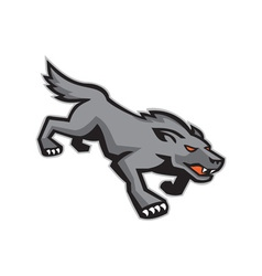 Wild Dog Wolf Stalking Retro vector