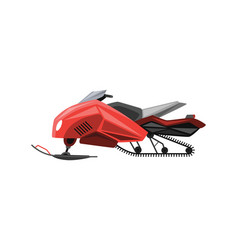 winter ride on snowmobile motor sled vehicle vector image