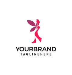 women beauty logo template icon design vector image