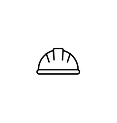 Worker hat icon vector