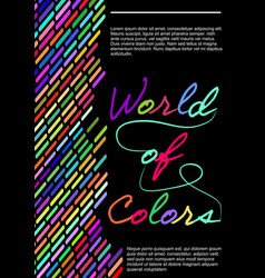 World of colors flyer template with multicolored vector