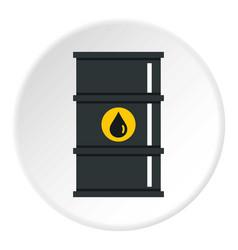 black oil barrel icon circle vector image