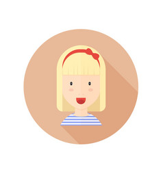 blond girl with glasses and character avatar vector image