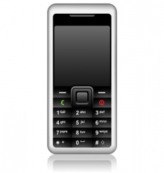 cell phone vector image vector image