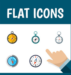 flat icon direction set of navigation measurement vector image vector image