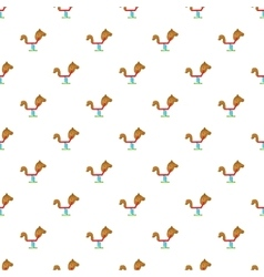 Spring seesaw pattern cartoon style vector