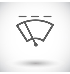 Car flat icon wiper vector image vector image