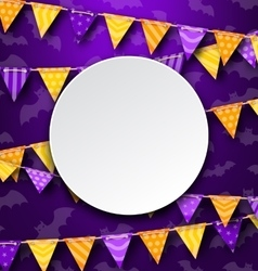 Clean Card with Colorful Bunting vector image vector image