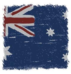 Flag of Australia handmade square shape vector image