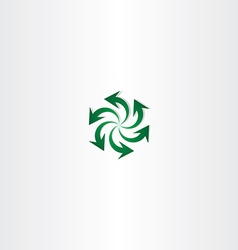 green arrow symbol recycle spiral sign logo vector image