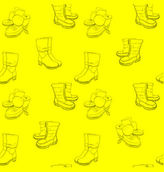 hand drawn sketch seamless pattern vector image