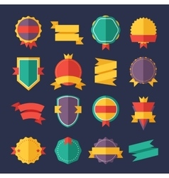 Modern flat design badges collection vector image vector image