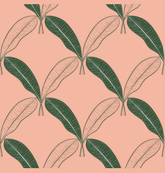 seamless pattern of a lot of mango leaves vector image vector image